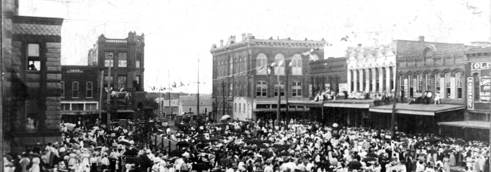Downtown square, east & south, c1914